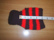 """NEW XXS  4"""" HAND KNITTED DOG COAT  / JUMPER BLACK / RED TEACUP  CHIHUAHUA/ PUP"""