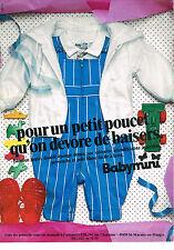 PUBLICITE ADVERTISING   1982   BABYMINI   CATIMINI   vetements enfants garçons