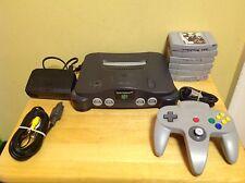 Nintendo 64 Console Bundle - Wires, Controller, 6 Games - 6T
