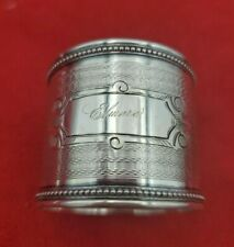 Wide Coin Silver Engine Turned Napkin Ring ELMORE  #10755