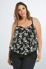 NWT Torrid Black Floral Chiffon Overlay Cami Top  Plus Size 5X Flowy (QQQ13)