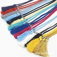 Women Woven Tassel  Belt Braided Belt, Self-Tie Thin Chain Waist Bow Tie Rope
