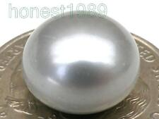 FINE 13mm AAA+++ Silver Gray Loose Half Drilled Bread pearl DIY Ring Pendant