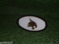 Texas State Bobcats Plastic Dome Hitch Cover NEW NCAA Fits 2'' Hitches