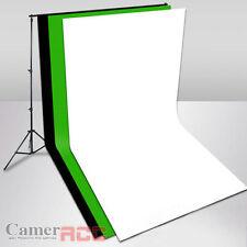 PHOTO Studio three cotton muslin backdrop ( 3 x 6 m) + Background Support kit UK