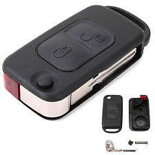 Mercedes Benz REMOTE FLIP KEY FOB CASE for A C E S slk class MB 2 buttons UK