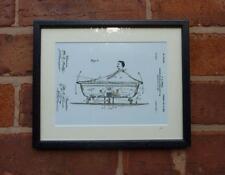 USA Patent Drawing BATHROOM ROCKING BATH TUB MOUNTED PRINT 1900 Xmas Gift