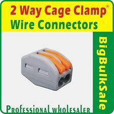 10 x 2 Way Cage Clamp® Connectors Wire Connectors Cable Connectors