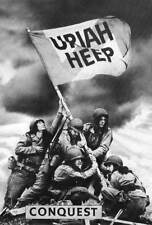 "URIAH HEEP ""CONQUEST"" POSTER FROM ASIA - Group Holding Flag, Progressive Rock"