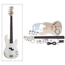 JAZZ Bass Style 4-String Electric Bass Solid Basswood Body DIY Kit Set L3I3