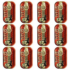TITUS Meaty Sardines in Soybean Oil, Source of Omega-3 Fatty Acids - 12 Pack