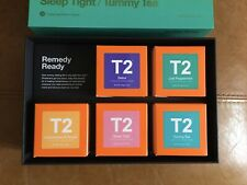 T2 Five Remedy Ready Loose Leaf Herbal Tea Tisanes box set Peppermint, Detox Etc