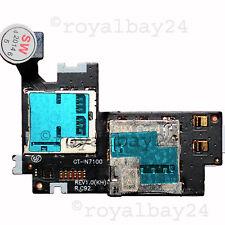 Samsung Galaxy Note 2 gt-n7100 sim Flex micro SD lector de tarjetas pozo CardReader