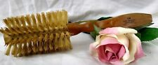 Vintage Brush Pure Bristles Round Styler Wood Handle made in England