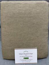 "Pottery Barn Mocha Classic Belgian Flax Linen Blackout Drape Panel 84"" Curtain"