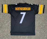 Pittsburgh Steelers Ben Roethlisberger Throwback NFL Football Jersey Sz XL Long