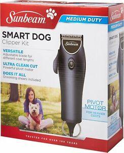 Sunbeam Smart Dog Clipper Grooming Kit w/ Guide Combs Medium duty For Heavy coat