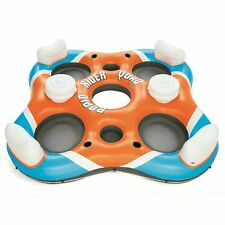 """Bestway Rapid Rider 101"""" 4-Person Inflatable Island Lounge River Raft Float"""
