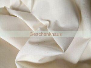 Nessel Stoff Rohware Baumwolle Alltagsmasken Leinwand 170cm Meterware Natur