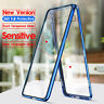 For Samsung Galaxy A10 A20 A50 60 A70 Magnetic Adsorption Clear Glass+Metal Case