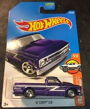 Hot Wheels Super CUSTOM 67 Chevy C10 Purple with Real Riders