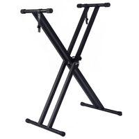 Adjustable Height Portable Electronic Music Keyboard Piano X-Stand Metal Rack