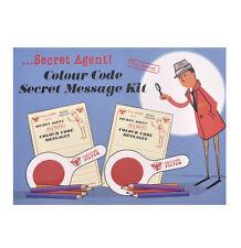AGENTE SEGRETO CODICE COLORE MESSAGGIO KIT - Top rétro spia detective Set