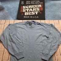 90s VTG SCREEN STARS BEST Blank Single Stitch T Shirt Light Fruit Of The Loom S