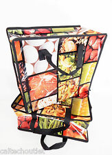 2 x Reusable Grocery Shopping Market Bags Solid Non-Woven Printed Carry Tote