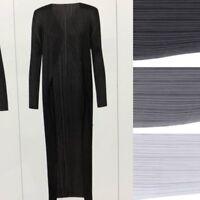 PLEATS PLEASE ISSEY MIYAKE Basics Long cardigan coat