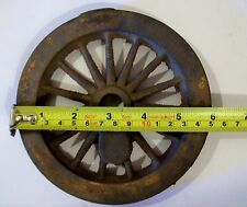 Live Steam 15 Spoke Cast Iron Locomotive Driving Wheel, 5  or 3 1/2 inch gauge.