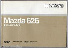 Betriebsanleitung MAZDA 626, 1992