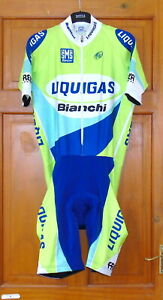 """NEAR-PERFECT LIQUIGAS BIANCHI PRO TEAM SKINSUIT. SANTINI 3XL UP TO 45-46"""" CHEST"""