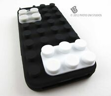 BLACK TOY BLOCKS SOFT SILICONE RUBBER SKIN CASE COVER APPLE IPHONE 5 5S SE