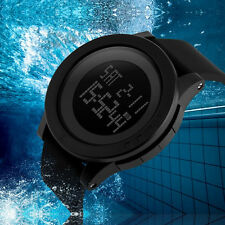 Waterproof Mens Outdoor Sport Digital Date Day Alarm Rubber Wrist Quartz Watch