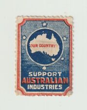 Australian- Support Australian Industries- Very Small poster stamp No gum but hi