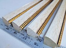 56 ft Antique Off White Sepia with Gold Leaf Edge Picture Frame Molding