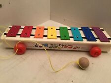 vintage Fisher Price Pull a Tune Xylophone Musical Toy No 870