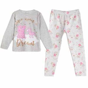 AVON Dream Girls Peppa Pig Kids PJs Pyjamas Set Long Sleeve Cotton 3-4 Years