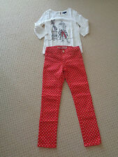 GAP MOD HERRINGBONE Moby Dick Graphic tee and Red Dot Skinny Jeans 7-8