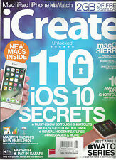 i CREATE  MAGAZINE  MAC* i PAD*i PHONE*APPLE WATCH   110 iOS 10 SECRETS   NO.166