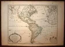 L'AMERIQUE GENERALE gravure carte geographique ancienne GUILLAUME DELISLE 1785
