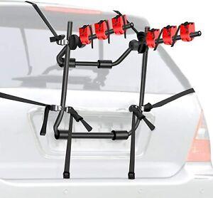 Walmann Bike Trunk Mount 3-Bike Car Carrier Rack for Auto