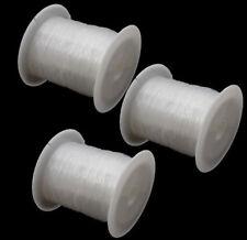 300 Meter Faden SILIKON SCHMUCKFADEN 0,2mm Klar Perlenfaden 3 spule C112#3