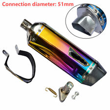 38-51mm Hot Motorcycle Scooter Exhaust Muffler Pipe Silencer Stainless steel