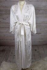 Silky Lacy Long Off White Christian Dior Vintage 80's Lingerie Slip Robe Nightie