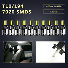 10x White 6000K T10 7020 SMD CANBUS LED Dome Map License Light Bulbs W5W 168 194
