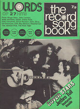 Jethro Tull on Record Song Book Magazine Cover May 1971      Elvis Presley