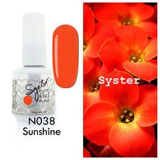 SYSTER 15ml Nail Art Soak Off Color UV Lamp Gel Polish N038 - Sunshine