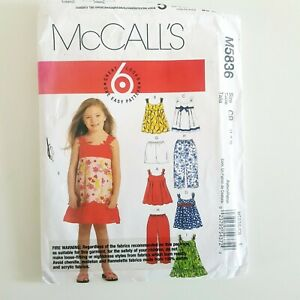 Child  Dress Pattern McCalls M5836 Dress, pants, shorts, top Sz 1,2,3 Uncut 2009